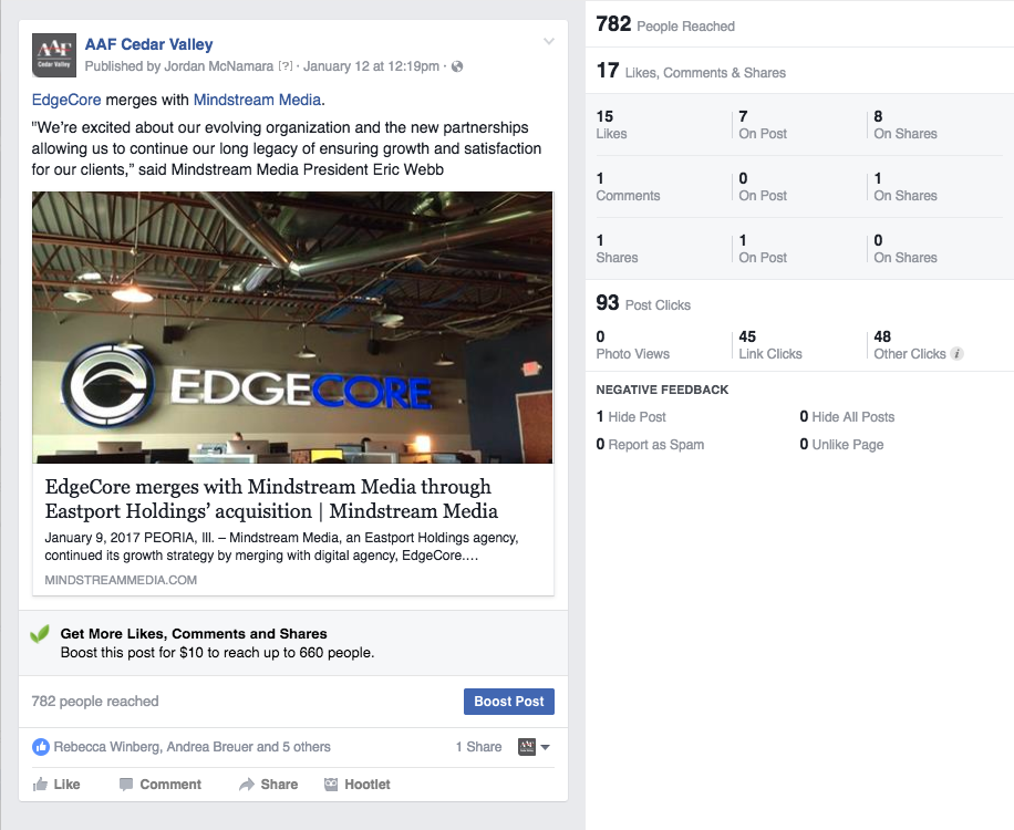 AAF Edgecore merger post
