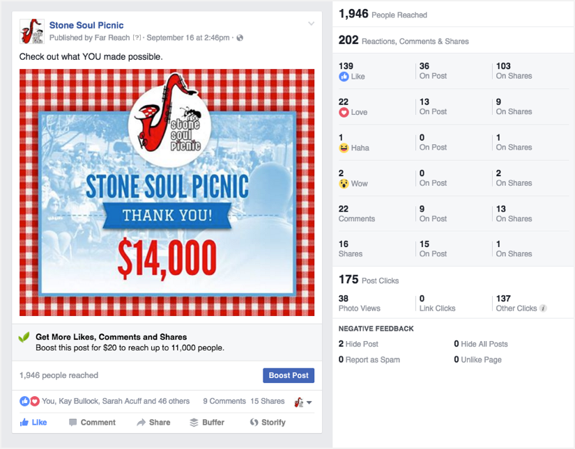 Stone Soul Picnic Facebook post