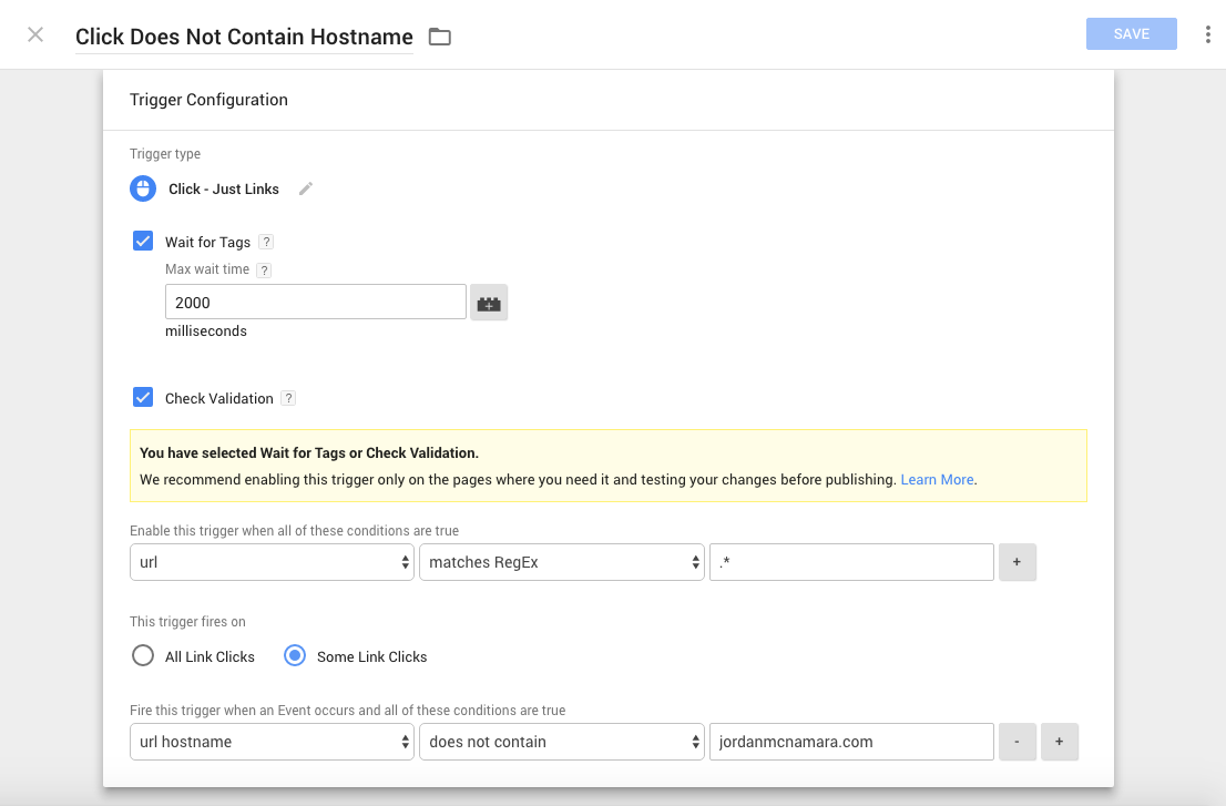 Outbound link tracking. Step 2: Create a Trigger